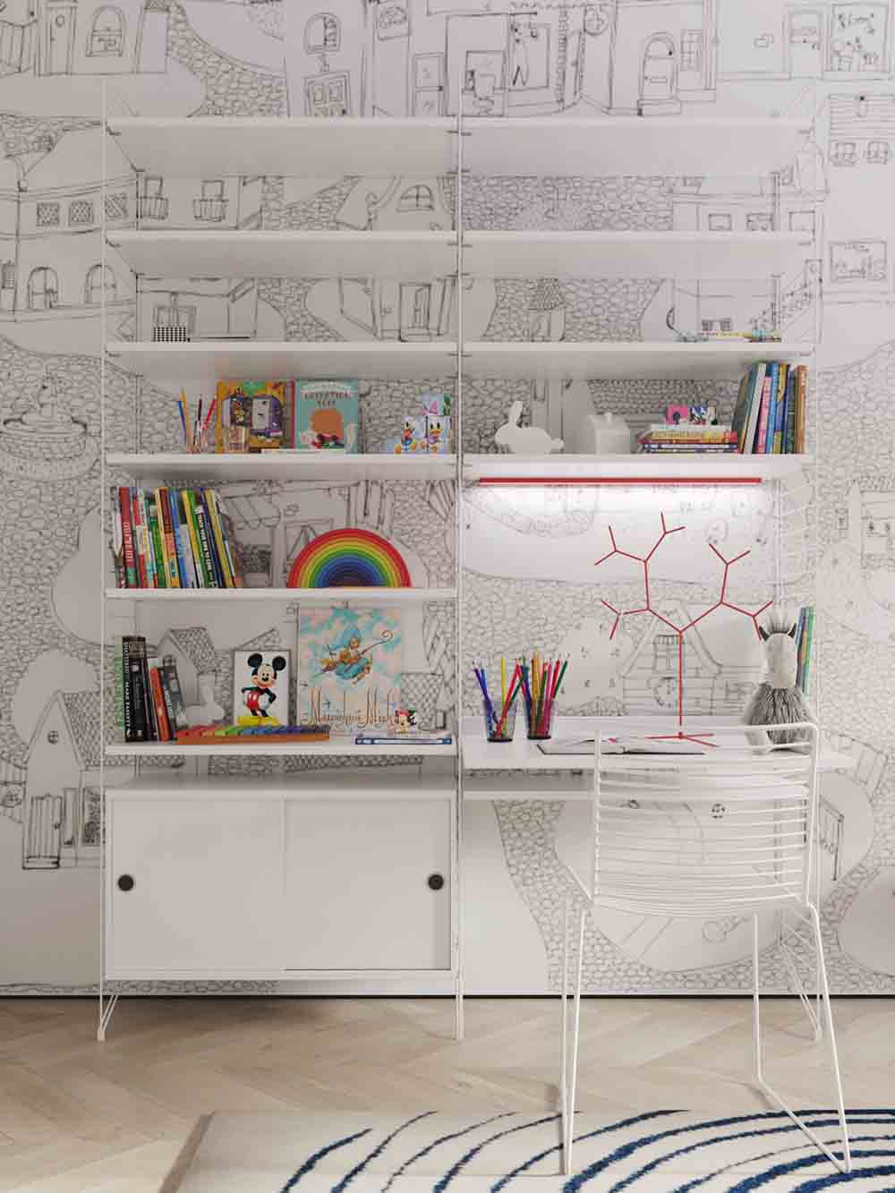کاغذ دیواری مناسب اتاق کودک