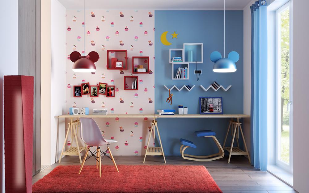 طراحی اتاق کودک دختر و پسر