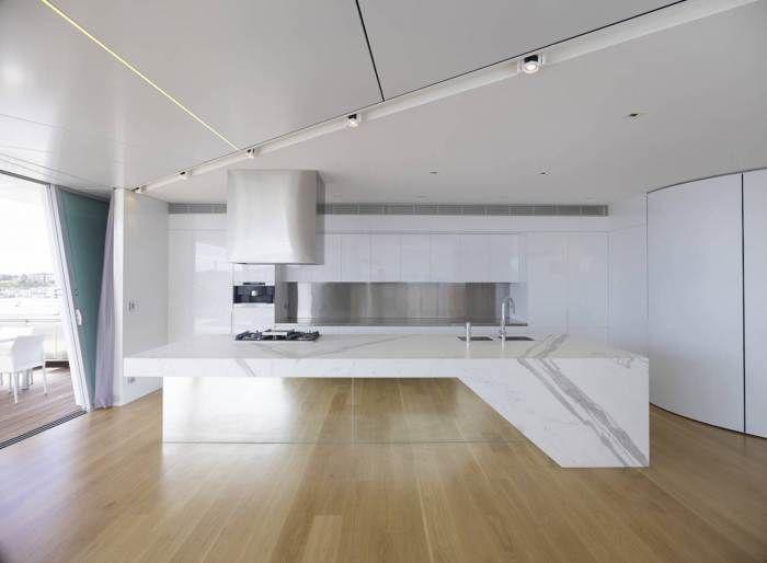 کابینت های گلاس مدرن سفید